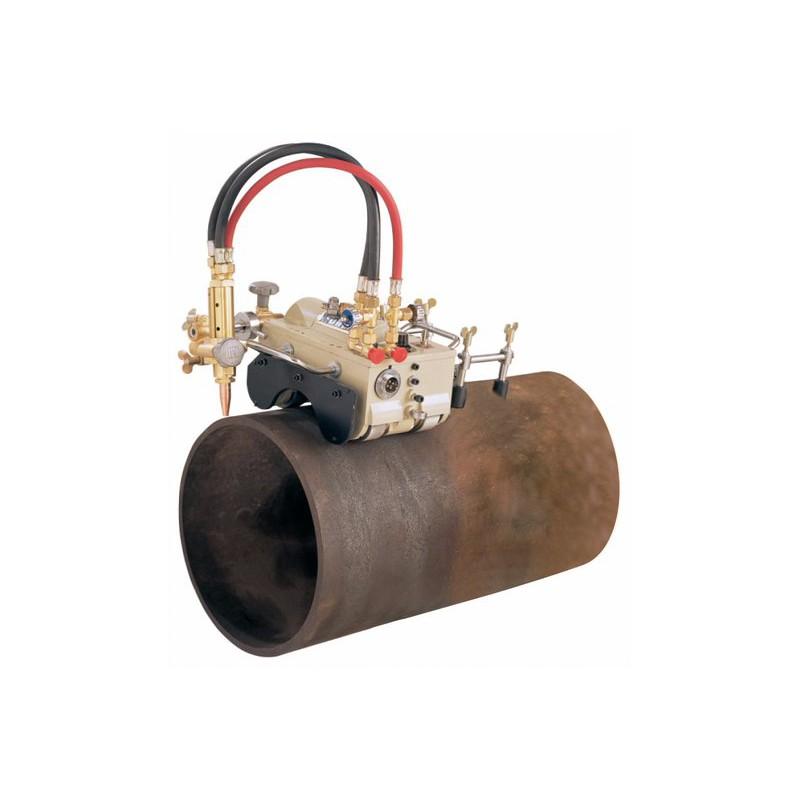 Cortador y biselador de tubos con ruedas magnéticas. Tienda Linde.