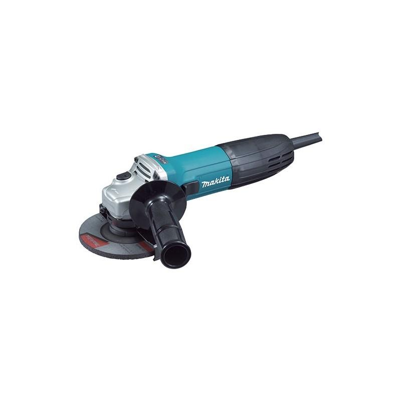 Miniesmeril 4-1/2 pulgadas de Tienda Linde, incluye disco abrasivo, llave, y empuñadura lateral.