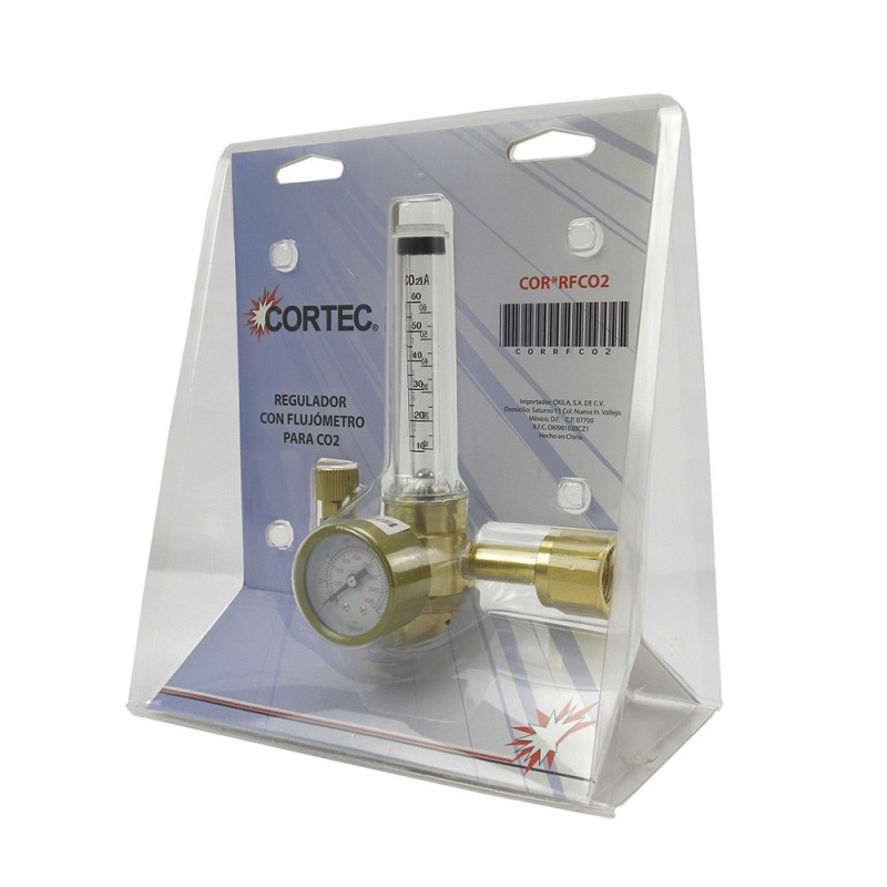 Regulador con flujometro para CO2 de Tienda Linde.