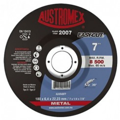 Disco de desbaste Easy Cut para metal de  7x1/4x7/8. Tienda Linde