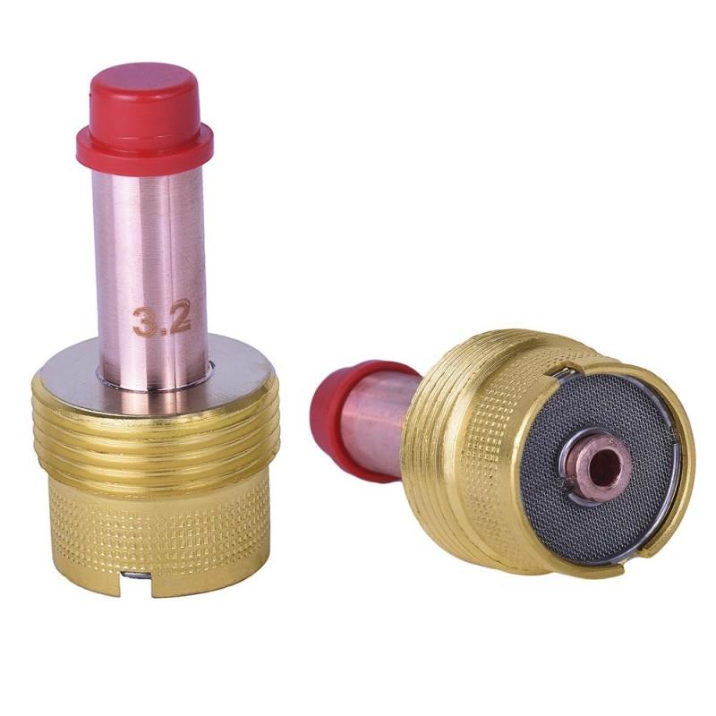 Gas lens grande para 1/8 pulgadas para antorchas 17/18/26. Tienda Linde