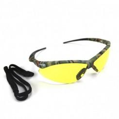 Lente nemesis color ambar, con armazón de diseño camuflaje con protección de rayos UV. Tienda Linde